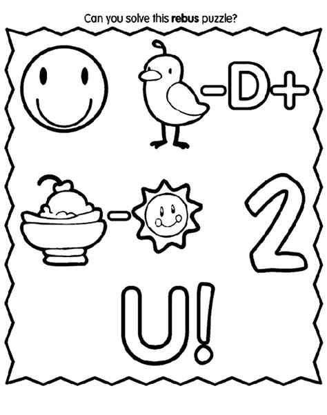 crayola coloring pages birthday rebus birthday message crayola ca