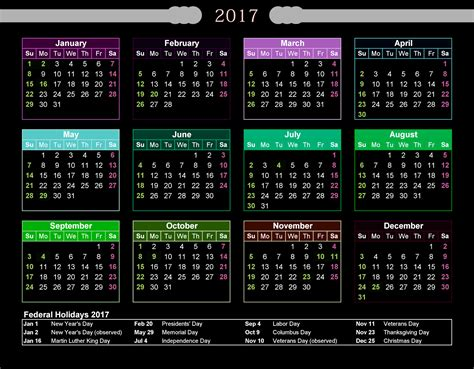 printable calendar with holidays federal holidays 2017 calendar with holidays calendar
