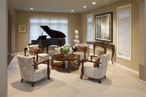 piano in living room piano room contemporary living room milwaukee by