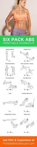 printable workout to customize and print six pack abs