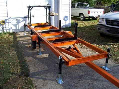 home built portable chainsaw mill handy ideas
