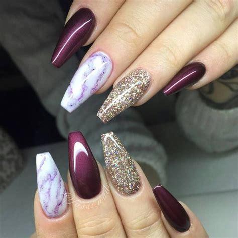 Burgundy And Gold Nail Designs 50 burgundy nails designs ideas maroon acrylic nails