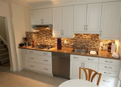 kitchen backsplash ideas with white cabinets paint railing stairs and kitchen design kitchen