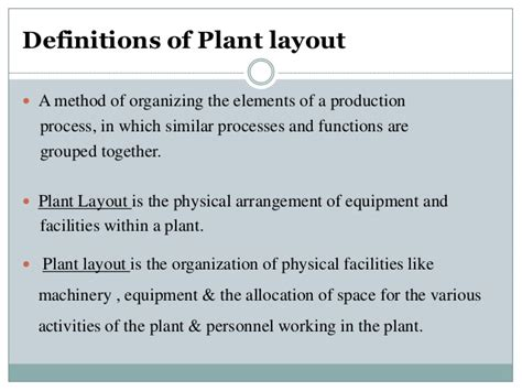 plant layout meaning and definition plant layout