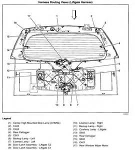 2005 cadillac srx rear hatch diagram 2005 free engine image for user manual