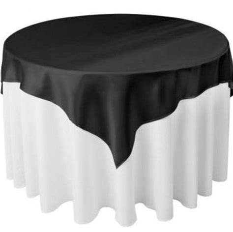 Evamat Polos 90x90 90x90 x polyester black tablecloth or charger white with