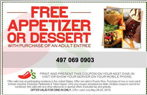 chilis printable coupon free appetizer chili s free appetizer printable coupon