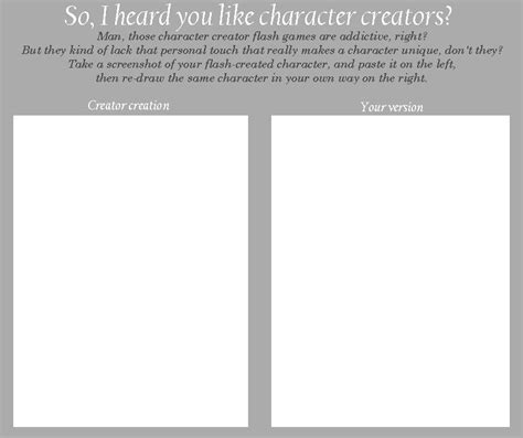 Meme Character Creator - character creator meme by merrypaws on deviantart
