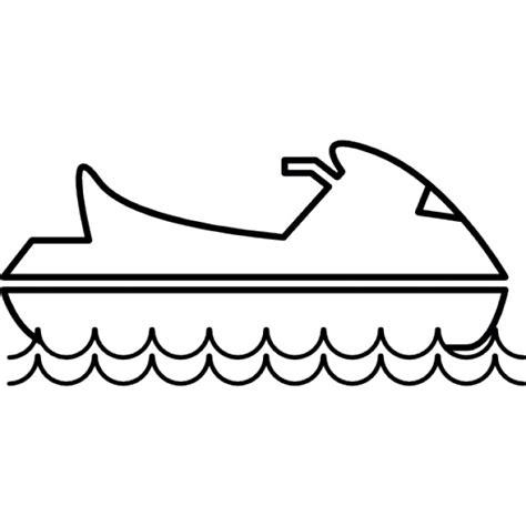 how to draw a ski boat step by step water jet ski icons free download