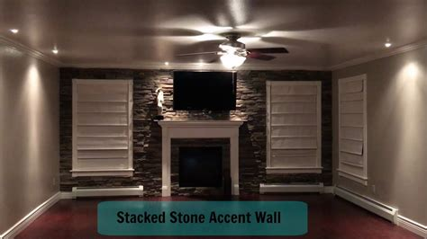 the great debate to accent wall or not to accent wall home improvement living room stacked stone accent wall