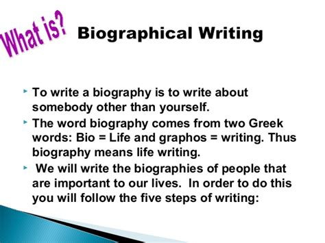 Writing A Biography Essay by Scaffolding Biographical Writing