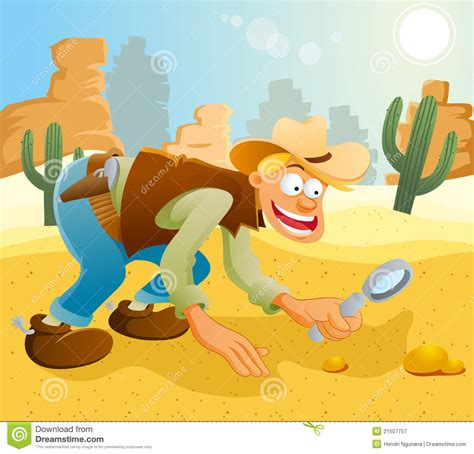 Finding Gold Cowboy Finding Gold Stock Vector Image Of Gold 21507757