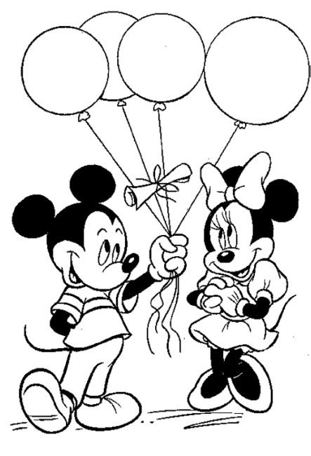 valentine coloring pages disney mickey  minnie mouse