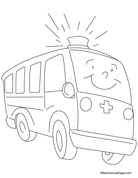ambulance kids coloring pages