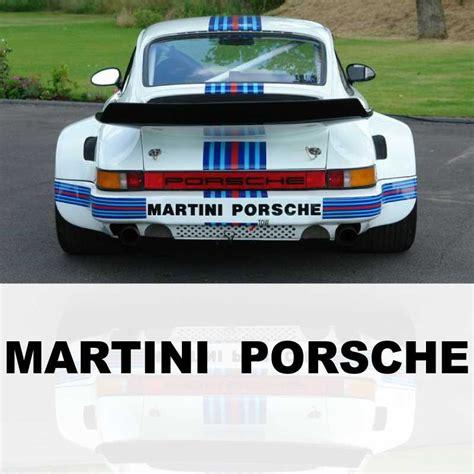 Aufkleber Porsche Design by Aufkleber Martini Porsche