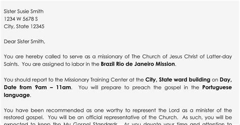 lds mission call template so you think you can learn primary activity