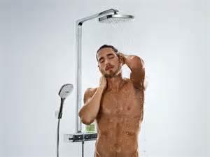 dusche hansgrohe wall mounted shower panel raindance select e 300