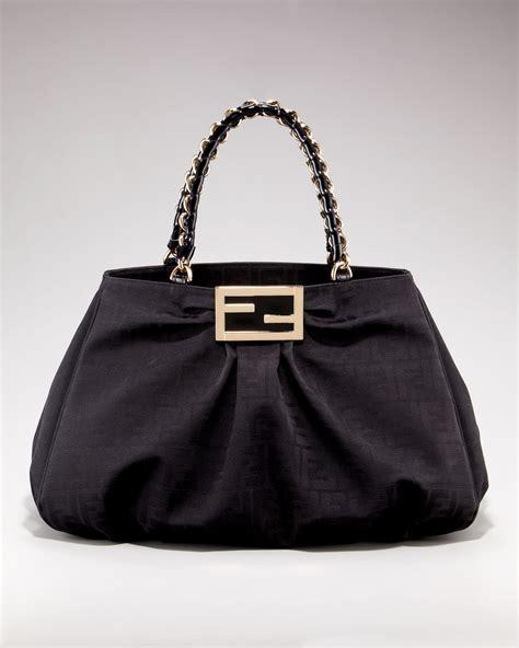 New Fendi Calista 3in1 Leather fendi grande shoulder bag in black lyst