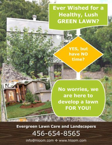 lawn care flyer templates franklinfire co