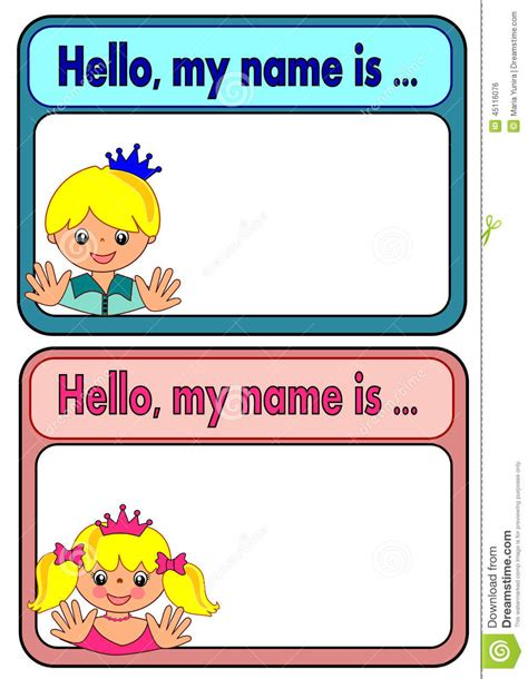 Etiketten Kinder by Name Tags For Stock Vector Illustration Of Label