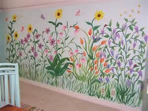 Wall Murals Flowers Flower Garden Wall Murals Design Wall Murals Pinterest