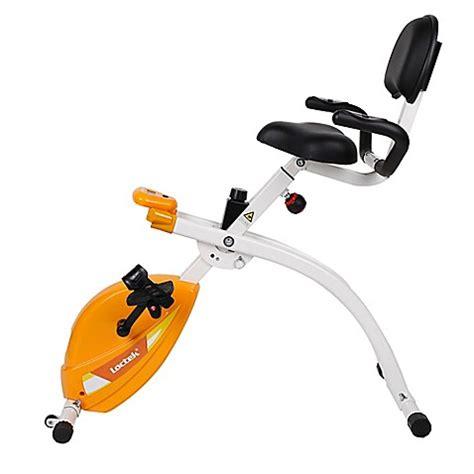under desk foldable exercise bike in orange bed bath