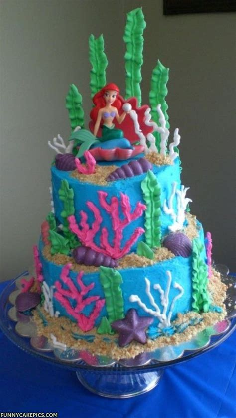 little decorations mermaid cakes decoration ideas little birthday cakes