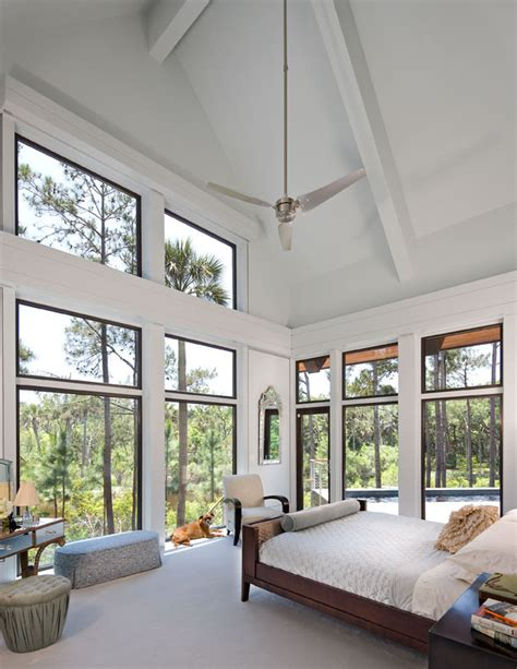 glass ceiling bedroom large glass windows living room modern with balcony black