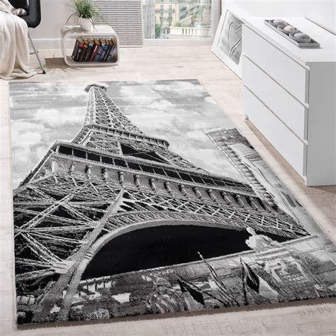teppiche 120x170 modern designer landmark rug eiffel tower motif