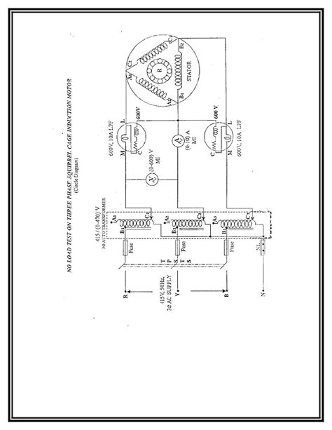 three phase induction motor load current load test on three phase induction motor circuit diagram efcaviation