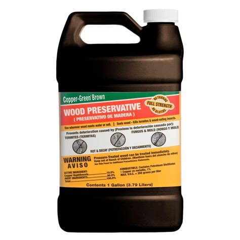 copper green 1 gal brown wood preservative cb 1 the