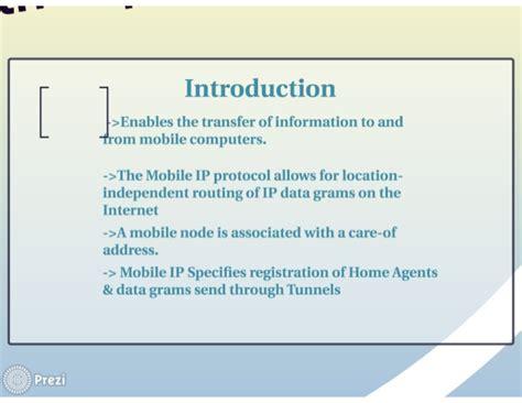 mobile ip mobile ip presentation