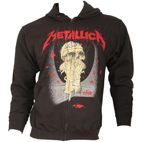 Hoodie One Of metallica black zip hoodie one landmine rocknshop