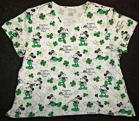 s day scrub tops disney scrub top size 3x mickey mouse quot happy st