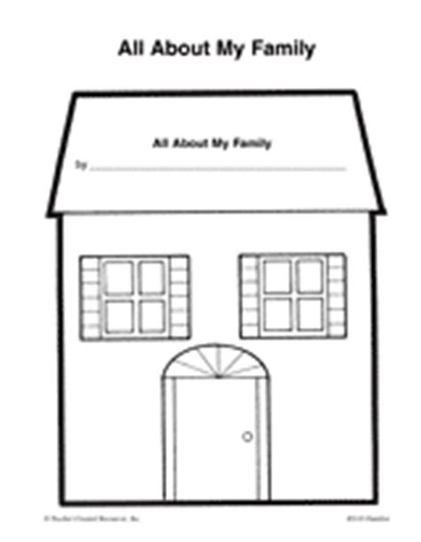 best photos of preschool house template my family in all about my family teachervision