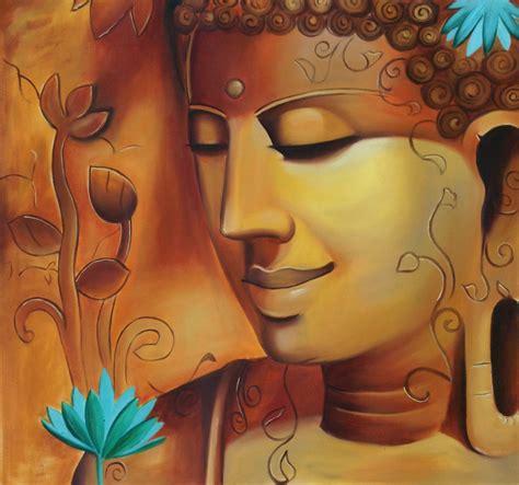 buddha oil painting wall art paintings picture paiting buddha portrait wall decor art handmade indian oil on