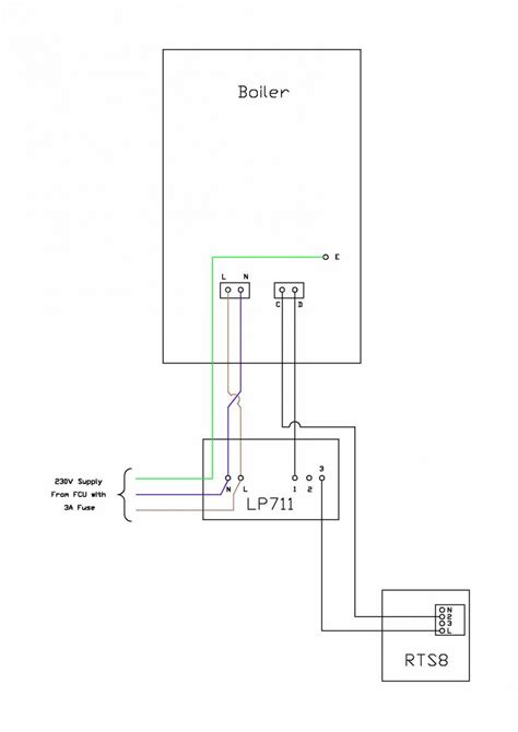 wiring a drayton rts8 room thermostat to lifestyle lp711