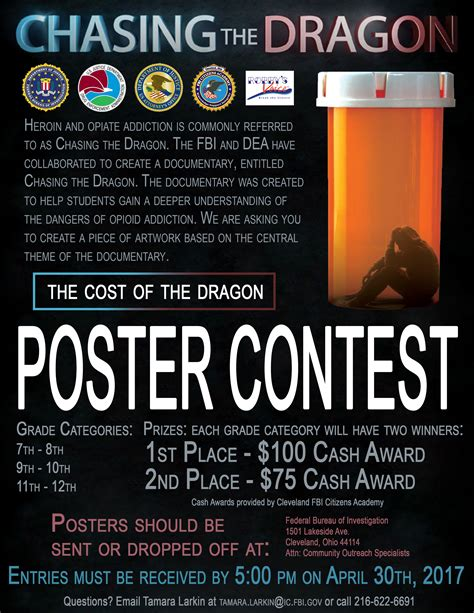 poster design competition rules wkyc com chasing the dragon poster contest aims to