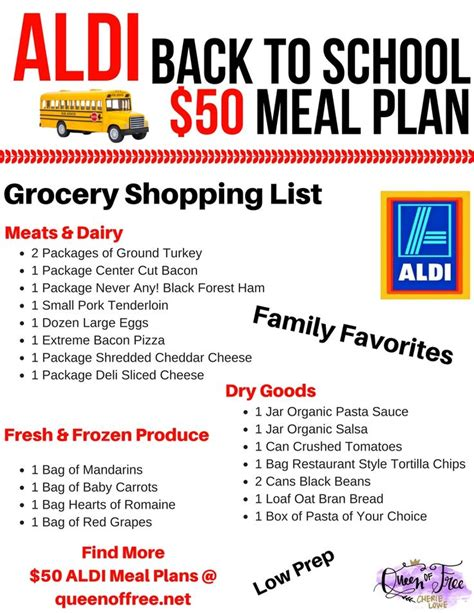 Galerry 17 free printable freezer meal plans and grocery lists