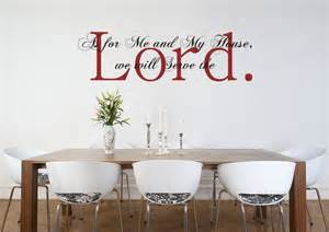 Bible Wall Murals vinyl wall art decal sticker as for me and my house joshua