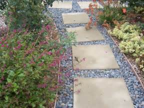 Pebbles And Rocks Garden The 2 Minute Gardener Photo Stepping Pathway With Mexican Pebbles