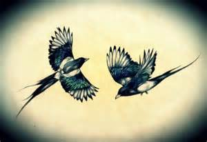 my own tattoo design of two magpies pictify your