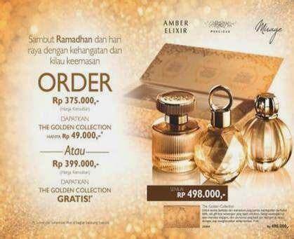 Parfum Di Oriflame kakatika golden collection gratis parfum mini 3pcs yg mewah