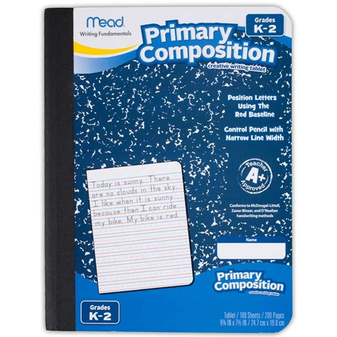 i always give 100 at work lined notebook books mead primary composition book ruled 100