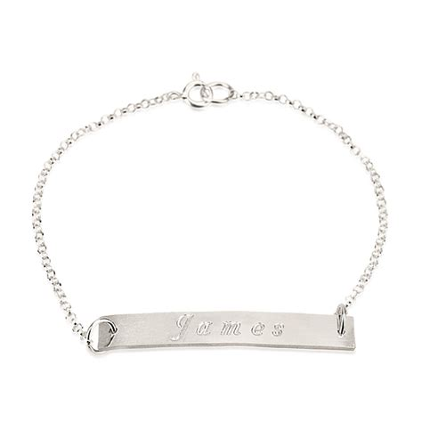 white gold bar engraved bracelet jewelry persjewel