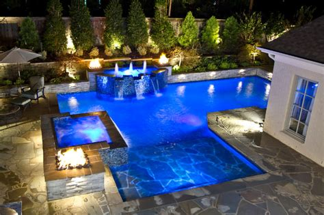 Southern Living Kitchens Ideas Collierville Modern Geometric Pool Spa Amp Outdoor Living