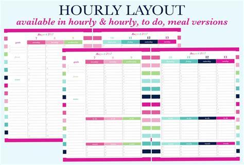 Print Hourly Calendar