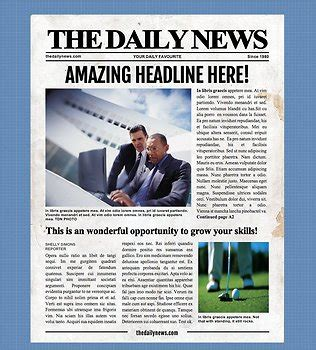page newspaper template microsoft word