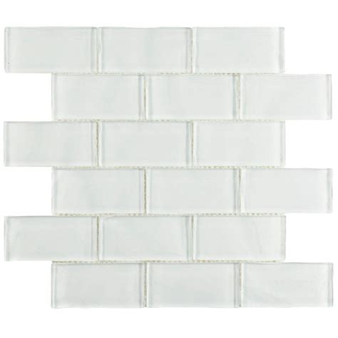 merola tile tessera ripple super white 11 3 4 in x 11 3 4 in x 8 mm glass mosaic tile gittrpsw