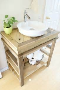 how to make a bathroom vanity diy wood projects work it wednesday the blissful bee